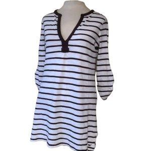VINEYARD VINES Brown Stripe Tunic Dress Size Small